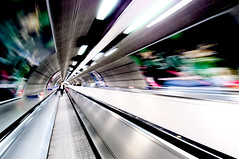 Jubilee Line, London Tube (razorbern) Tags: motion wow underground cool fantastic movement topf50 europe awesome tube waterloo future scifi excellent damn drwho tempest futuristic cyber jubileeline northernline whoosh waterloostation exhilarating tempest2000 connectortunnel
