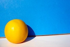 Lemon! ({platinum}) Tags: blue color yellow fruit lemon tccomp045 platinumutatafeature