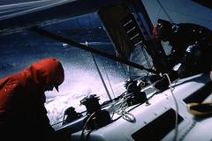 Swiftsure Race (Protection Island) Tags: ocean storm 35mm sailing racing predigital nikonos swiftsure fujiprovia