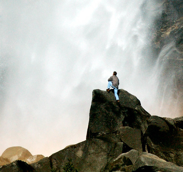 Photo of the Day: Hiker Near Lower Yosemite Falls by Loyd Schutte