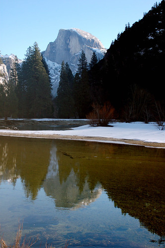 Photos: Merced reflecting Half Dome. Photo by Loyd Schutte