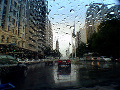 Driving through Adelaide (davesag) Tags: australia adelaide southaustralia rain driving inpassing kingwilliamstreet pc5000