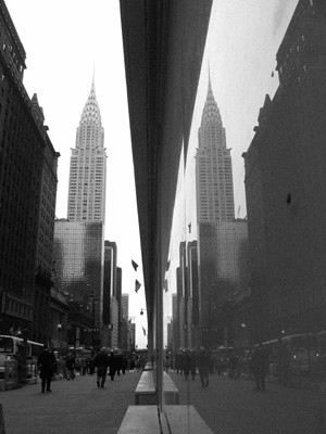 newyork new york city chrysler building reflection topv111