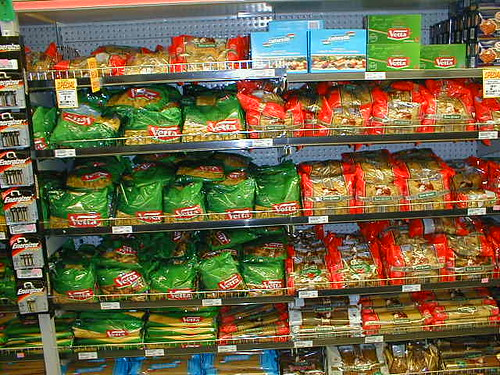 The pasta aisle, Woolworths, Macquarie Centre
