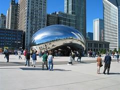 Cloud Gate (115_1581) (orayzio) Tags: chicago topv111 topv555 topv333 topv999 topv444 topv222 topv777 millenniumpark cloudgate topv666 thebean topv888