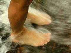 pés de b. na água (zenog) Tags: b feet water água pés pedra