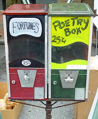 fortunes and poetry vending machines - by zen