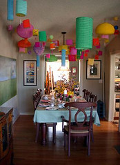 Lanterns (Something To See) Tags: lanterns dining table party
