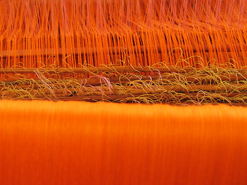 Warp and weft, orange
