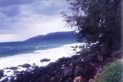 Rain on beach (marlenells) Tags: sky water blue nature stones beach scanned florianpolis flickrfirst topv111 freeassociation