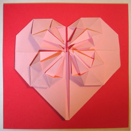 HAPPY VALENTINE'S DAY!! I made this origami heart by dismantling one given