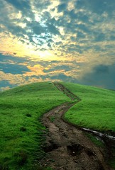 Road to heaven (fd) Tags: california road sunset sky green clouds landscape outdoors heaven topv999 hills trail 25 themecompetition zentop chinohills tccomp027 utatafeature