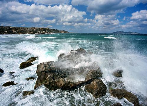 Heavy Surf, Favignana Island, Sicily - Copyright by Martin Liebermann