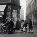 Aarons, Jules - Untitled, street scene with motorcyclist, Paris, 1950