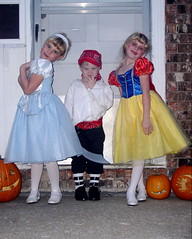 Halloween Costumes 1 (simpolman) Tags: kids moire macelyn josiah halloween costumes pirate princess cinderella snowwhite pumpkin