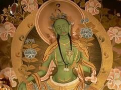 Green Tara Thangkha ~ Om Tara Tu Tara Ture Soha - by hurleygurley