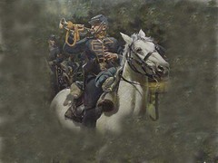 Cavalry bugler background