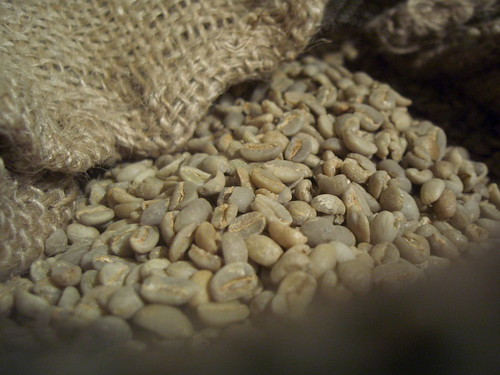 green Ethiopian coffee