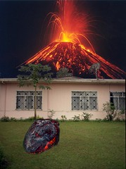 fortuna-pink-house-volcano (dogseat) Tags: hot photoshop volcano lava costarica fake montage heat bomb fortuna madphotoshopskills totallyfake 20minutemontage madphotoshopskillz