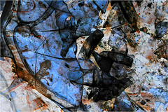 midnight sugar (BlueBreeze) Tags: blue abstract ice sugar midnight blau inverted thebiggestgroup