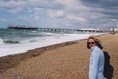 brighton beach pier wind sea sunglasses england uk lkt