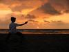Sunrise Karate (Pandiyan) Tags: sea cloud brown sun beach topf25 topv111 sunrise topv333 rust moody martial karate kata itsongselection1 pandiyan chennai seashore silhoutte arun perfectingladolcevita itsong–canona20