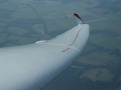 Dirty ASH25 wing (Peter Millenaar ) Tags: gliding soaring flying glider sailplane winglet