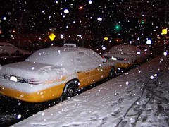 cabs in snow