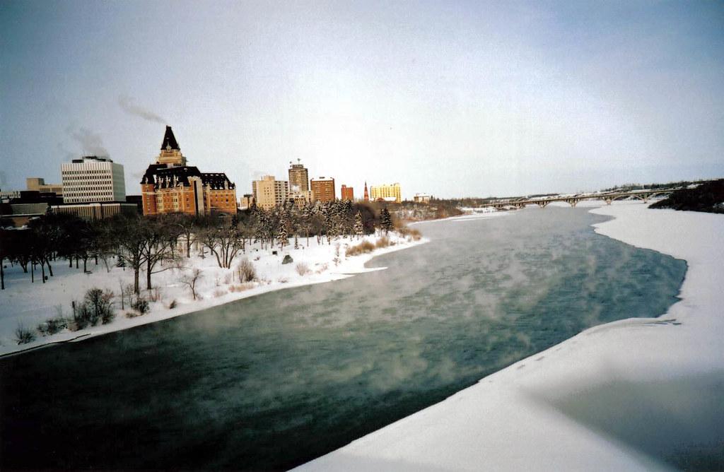 south saskatchewan river cityscape, saskatoon