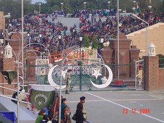 Wagah Border - Lahore, Pakistan (PakPositive) Tags: pakistan pakistani lahore wagah border india wagahborder changeofguards gates wahgah indopakborder indiapakistan borderguards guards ceremony bordergates changeofguard punjab rangers bsf pakistanrangers pakistanarmy pakpositive people