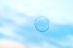 fleeting object #3 (**sirop) Tags: blue sky circle fly soap pastel sphere bubble slowly skyblue  fleetingobject