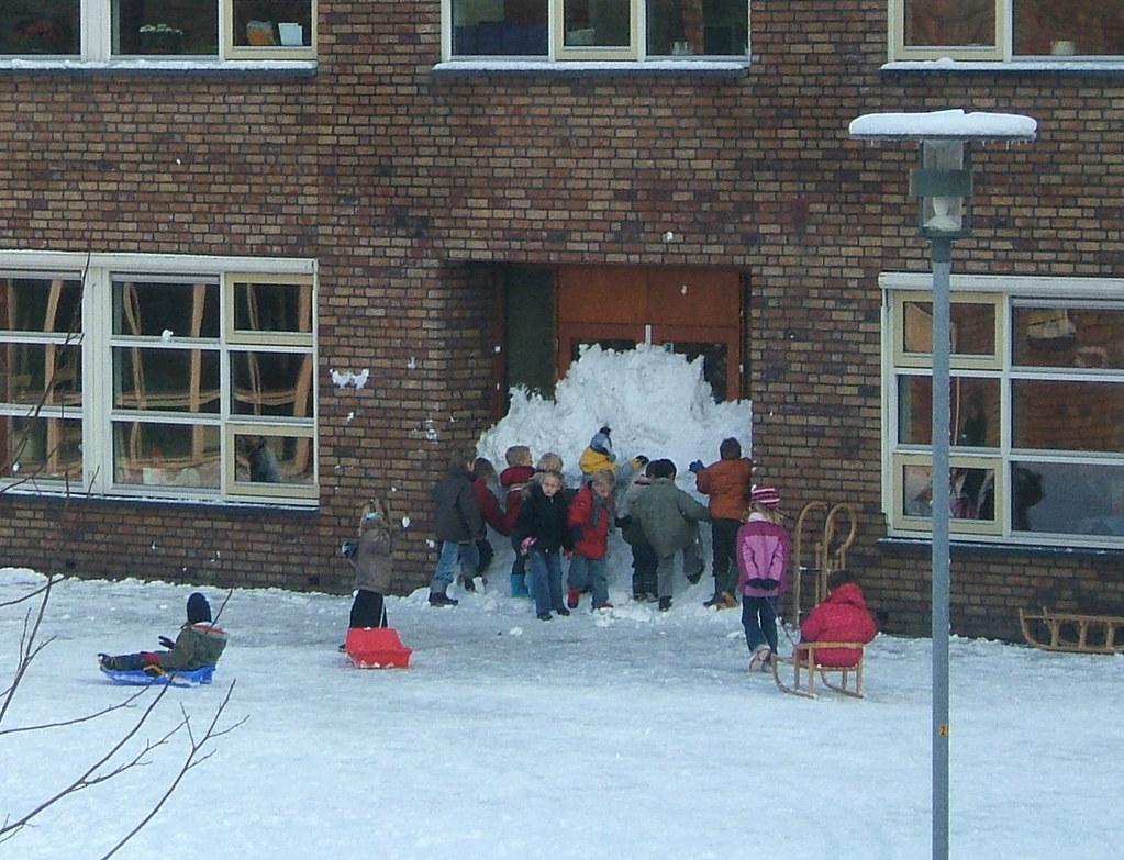 barricading the school