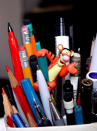 pencil jar by Muffet, on Flickr