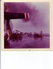 wet day on indy (Randy's World (Kinda)) Tags: waves water sky ship planes ocean navy flightdeck clouds carrier boat airplanes aircraft air