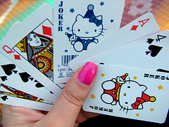 hello kitty playing cards (Pink Sushi) Tags: hello kitty playing cards picnic games