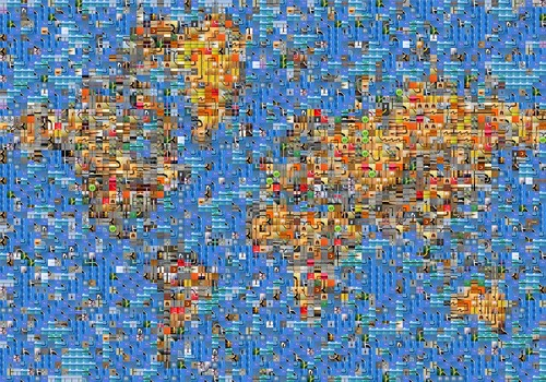 The world, fragmented.