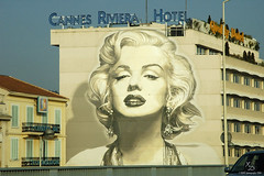 The city where legends live (Xavier Donat) Tags: city urban streetart france building art marilyn painting glamour mural d70 cannes marilynmonroe fame structure monroe prominentpersons blogged celebrities legend wallpainting 1870mm hollywoodlegends movielegend
