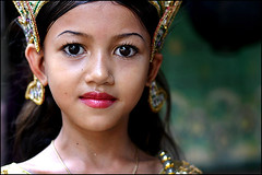 Princess from Orphanage - Phnom Penh, Cambodia (Maciej Dakowicz) Tags: poverty 2004 girl children dance topf50 cambodia khmer orphanage orphans phnompenh theface