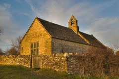St. Oswald's in evening light (Robert Silverwood) Tags: england sunlight building church stone wonder evening oxfordshire oxon stoswalds widford