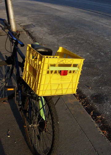 Yellow Bike Basket