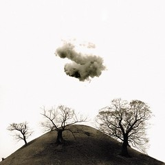 Asian Burial Mound (steffanmacmillan) Tags: trees winter bw cloud monochrome mono scary asia bare horror oriental orient southkorea lonelycloud burialmound naturalmente naturesfinest natu kyongju outstandingshots 25faves silladynasty