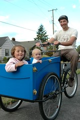 Kids in the Haley cargo Trike