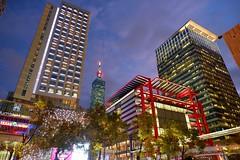 Taipei 101 night view (linwujin) Tags: taipei101 taipei taiwan building fujifilm xt1 xf1655 night light color colorfull colour