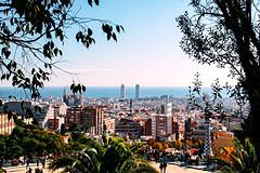 Parque Güell, Barcelona 2011 (luchador_lb) Tags: barcelona españa canon travel parque guell sea catalunya