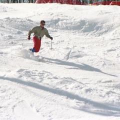 Telemarking Apollo (wordman760) Tags: grayrock apollorun skipatrol telemark ski skiing ourdoors sport winter snow sugarpeak action minolta kodak laurentians laurentides québec canada saintjovite monttremblant 35mm