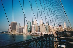 Lower Manhattan from the Brooklyn Bridge (Stabbur's Master) Tags: bridge famousbridges suspensionbridge manhattan nyc newyorkcity brooklynbridge woolworthbuilding lowermanhattan