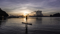 Love Sup (Snirk) Tags: philippines sunrise girl silhouette elnido palawan miniloc sup standup paddleboard landscape
