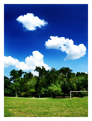 Greatest Goal I (scottwills) Tags: greatest goal soccer football post trees clouds scott wills scottwills