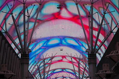 Are you experienced? (laura e) Tags: freemontstreet experience catchy colors red blue lasvegas
