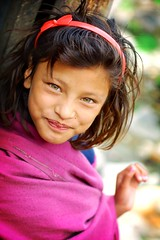 green eyed princess (phitar) Tags: nepal kid 2002 girl pink eyes travel asia topc75 topv1111 topf100 phitar topf200